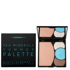 KORRES SEA MINERALS SUMMER PALETTE CORAL BLUE WAVES 13g