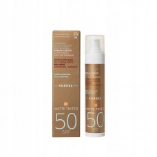 KORRES SUNSCREEN RED GRAPE MATTE TINTED SPF50 50ml