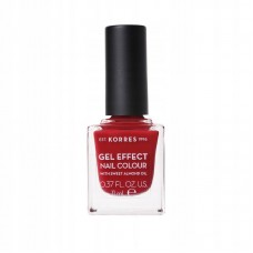 KORRES GEL EFFECT NAIL COLOUR LAKIER 56 CELEBRATION RED