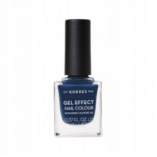 KORRES GEL EFFECT NAIL COLOUR LAKIER 84 INDIGO BLUE
