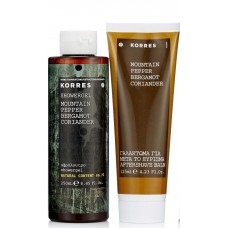 KORRES MOUNTAIN PEPPER SET ŻEL 250ml + BALSAM PO GOLENIU 125ml