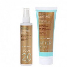 KORRES OLEJEK DO OPALANIA SPF20 100ml + AFTER SUN 125ml