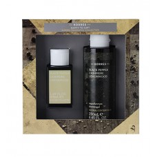 KORRES ZESTAW BLACK PEPPER EDT 50ml + ŻEL 250ml