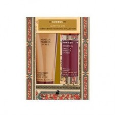 KORRES VANILLA FREESIA LYCHEE BODY MILK 125ml & SHOWER GEL 250ml