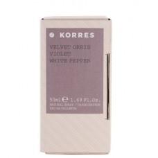 KORRES VELVET ORRIS VIOLET WHITE PEPPER EDT 50ml