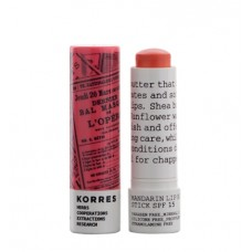 KORRES MANDARIN LIP BUTTER MASŁO DO UST SPF15 PEACH 5ml