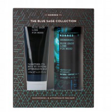 KORRES BLUE SAGE LIME FIR WOOD AFTER SHAVE + SHOWER GEL