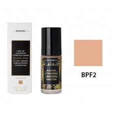 KORRES BLACK LIFTING FIRMING BRIGHTENING FOUNDATION BPF2 30ml