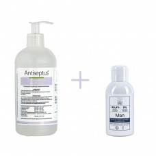 ANTISEPTUS HAND SANITIZER 500ml + INTIMATE AREA CLEANSER FOR MEN