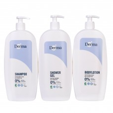 DERMA FAMILY SET SHOWER GEL BODY BALM SHAMPOO