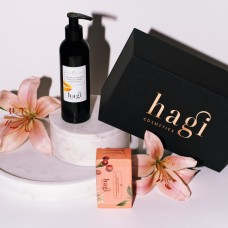 HAGI COSMETICS GIFT SET BODY MILK AND SOAP